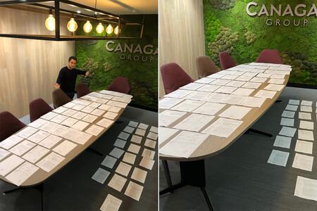 Una montaña física de papel: la pesadilla burocrática del Brexit, explicada en una imagen