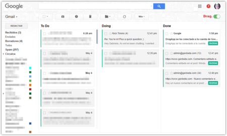 Dragapp Gmail