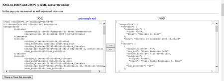 Convierte tus XML a JSON y viceversa, online