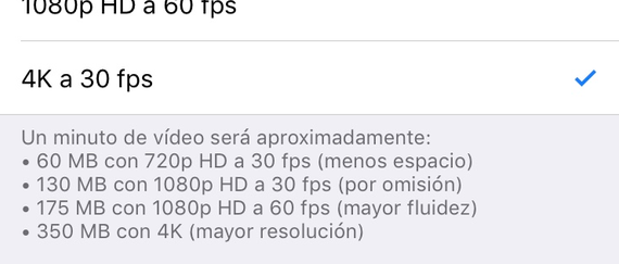 Preferencias Video Ios
