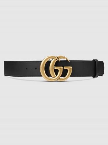 Cinturón con doble G de Gucci