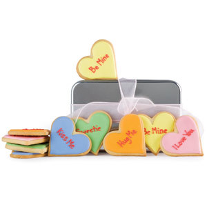 Cookies con notas de amor