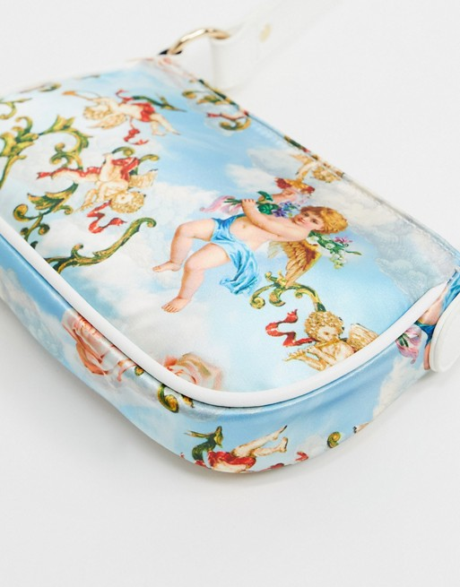 Bolso de hombro estilo años 90 con estampado de Cupido