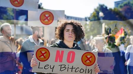 Protestas Derogacion Ley Bitcoin El Salvador