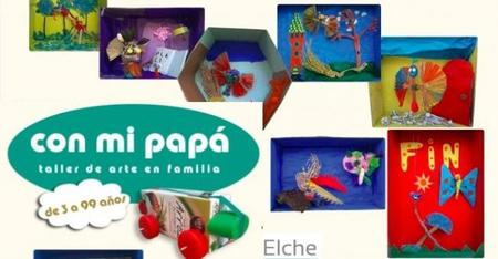 """""""Con mi papá"""": talleres de arte familiar en Elche"""