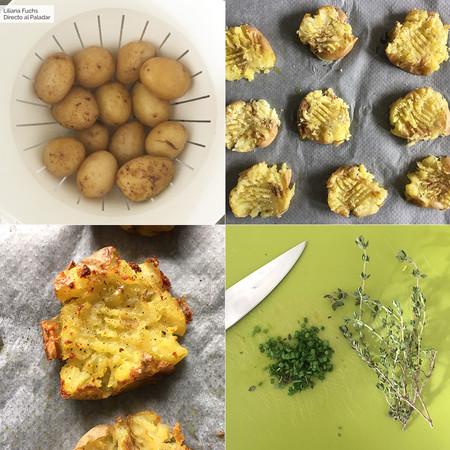 Patatas Chafadas. Pasos