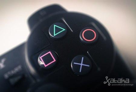 Sony mando, botones y símbolos