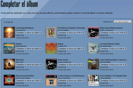 """Apple elimina el límite de tiempo para la opción """"Completar el álbum"""""""