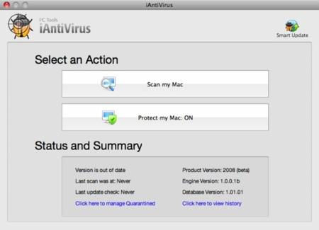 iAntiVirus, protección para Mac OS X