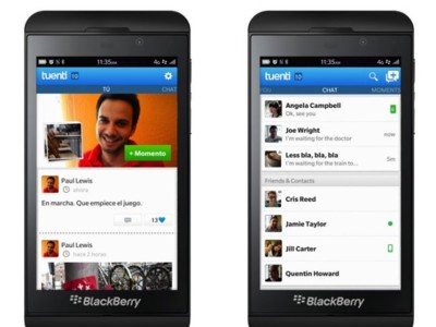 Blackberry 10 ya tiene su aplicación Tuenti