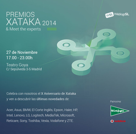[Agotadas] Apúntate ya para venir a los Premios Xataka 2014