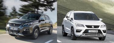 Comparativa SEAT Ateca vs Peugeot 3008: ¿cuál es mejor para comprar?