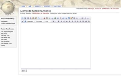 DisposableWebPage, creando páginas web con fecha de caducidad