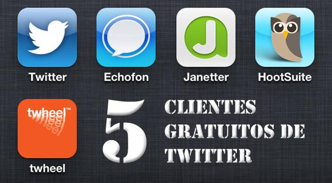 Cinco clientes gratuitos de twitter para iOS