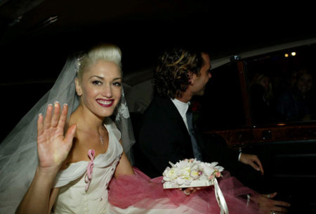 Gwen Stefani Gavin Rossdale 2002 Boda Vestido Novia