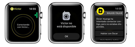 Aviso Modo No Disponible Walkie Talkie Apple Watch