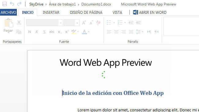 Cómo trabajar con Office Web Apps sin otras aplicaciones ofimáticas instaladas