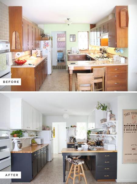 Antes y despu s de una cocina pintar es la clave for Mobili design low cost