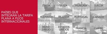 Tarifa Plana a fijos internacionales incluida en Oceans
