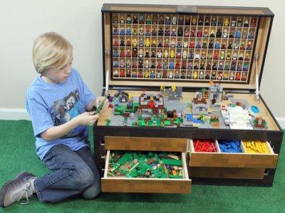 El increíble cofre real de Minecraft que soluciona el almacenaje de los Lego