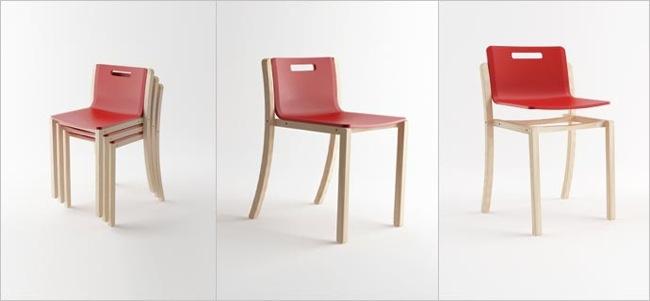 Las ventajas de las sillas apilables y colgantes for Sillas apilables