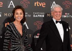 Isabel Preysler y Mario Vargas Llosa, la pareja de los Premios Goya 2016