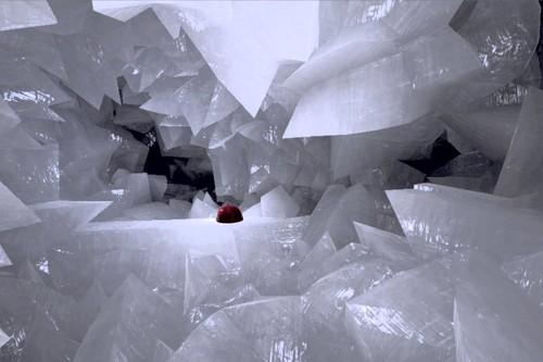 Viaje virtual al interior de una geoda gigante