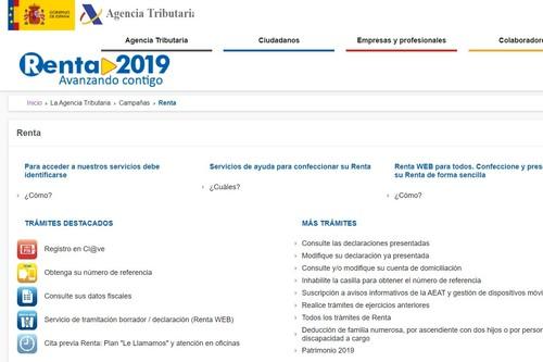 Así puedes obtener el borrador de la declaración de la Renta 2019 a través de la web de la Agencia Tributaria