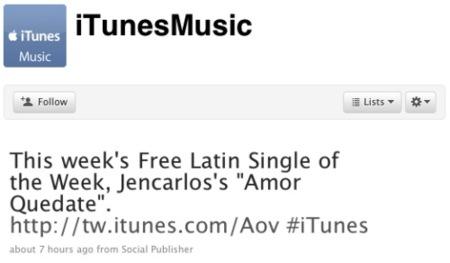 Apple estrena 4 cuentas de Twitter oficiales para iTunes