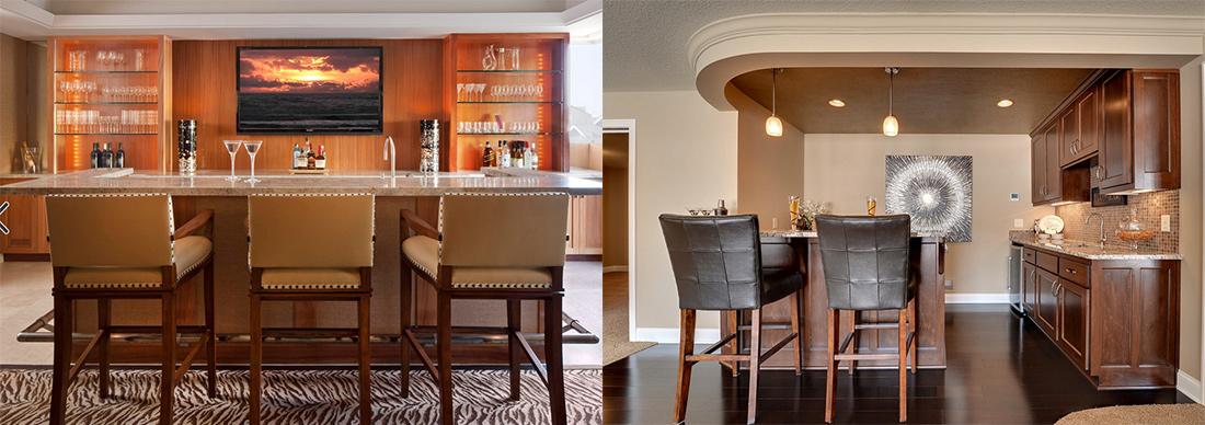 17 ideas para tener tu bar en casa - Barras de bar para salon de casa ...