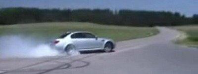 """Un BMW M5 """"dándolo todo"""""""