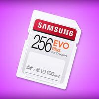 Esta tarjeta SD de Samsung de 256GB es ideal para video en 4K y se puede comprar con descuento en Amazon México por 549 pesos