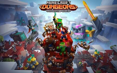 Se acerca el invierno con la gélida expansión Howling Peaks de Minecraft: Dungeons que llegará en diciembre