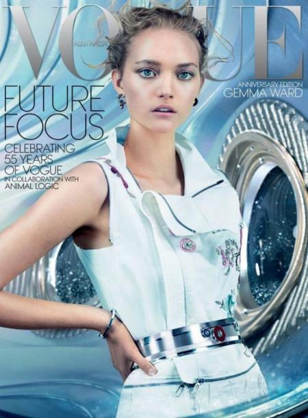 Gemma Ward vuelve por todo lo alto con esta portada para Vogue Australia