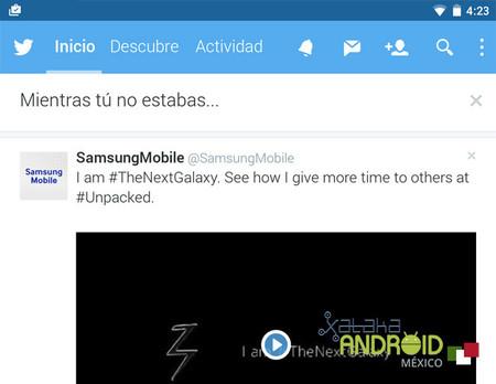 """Twitter ya integra su función """"mientras no estabas"""" en Android"""
