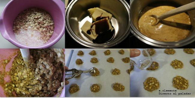 paso a paso galletas veganas de avena y coco