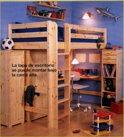 Una buena idea el escritorio debajo de la cama - Camas con escritorio debajo ...