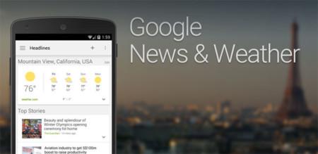 Noticias y tiempo de Google 2.2, ahora con buscador, tema oscuro y mejoras en la interfaz