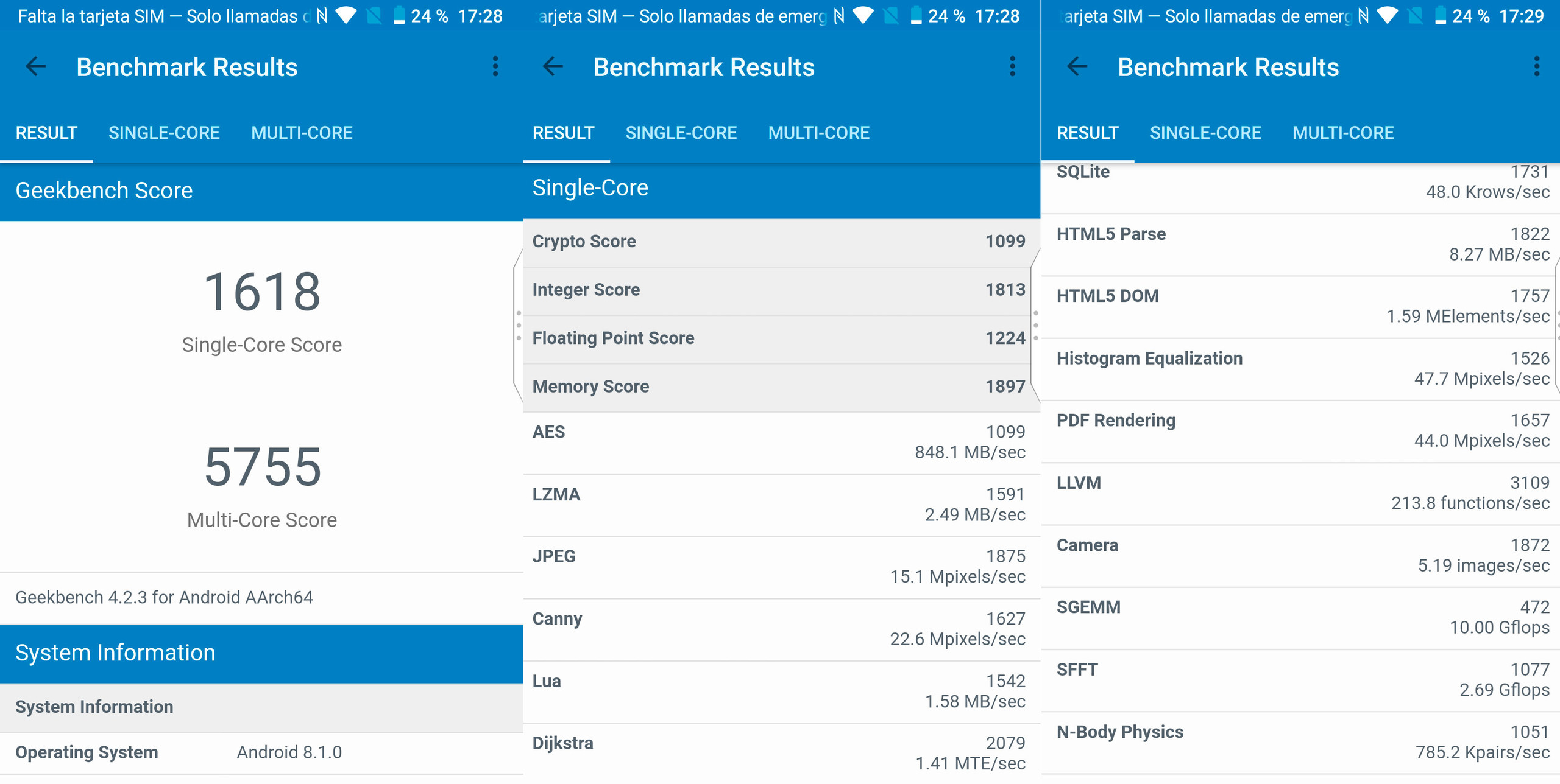 Foto de BlackBerry KEY2, benchmarks (3/5)