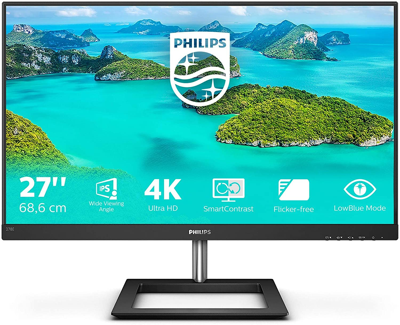 "Philips Monitor 278E1A/00 - 27"" UHD, 60Hz, IPS, Flicker Free (3840x 2160, 2x HDMI, Displayport )"