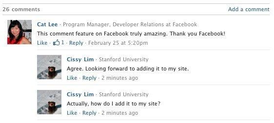 facebook comentarios plataforma social