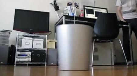 La papelera con Kinect que busca y captura tu basura