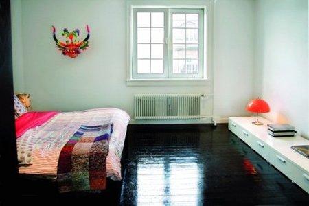 suelo negro - dormitorio
