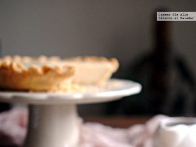 Pastel de crema. Receta tradicional británica