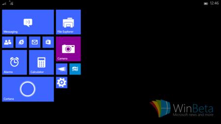 Así lucirá Windows 10 en tablets pequeñas