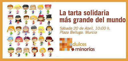 Dulces minorías. La tarta solidaria más grande del mundo en Murcia