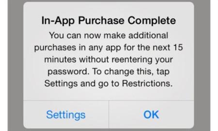 """iOS 7.1 incorpora una """"ventana"""" de compras in-app de 15 minutos"""