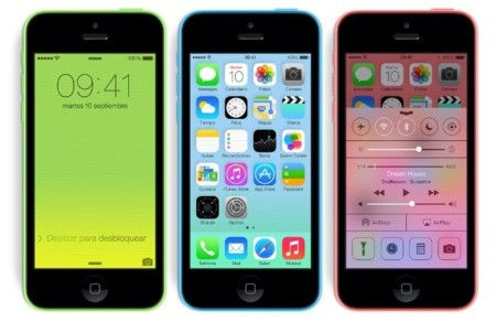 iPhone 5C colores tres