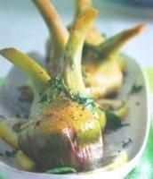 Corazones de alcachofa a la menta.