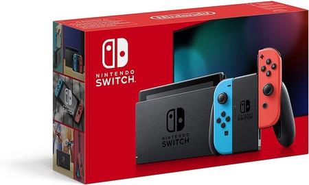 Nintendo Switch Consola Estandar Color Azul Neon Rojo Neon Modelo 2019